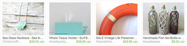Beachy Etsy Faves