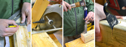 Notching Desk Legs
