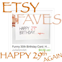 Etsy Favorites 30th Birthday Thumb