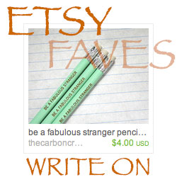 Etsy Favorites Write On
