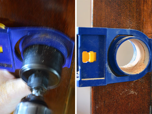Remove Doorknob Hole With Hole Saw