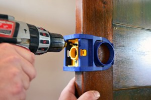 Securing Installation Kit To Door