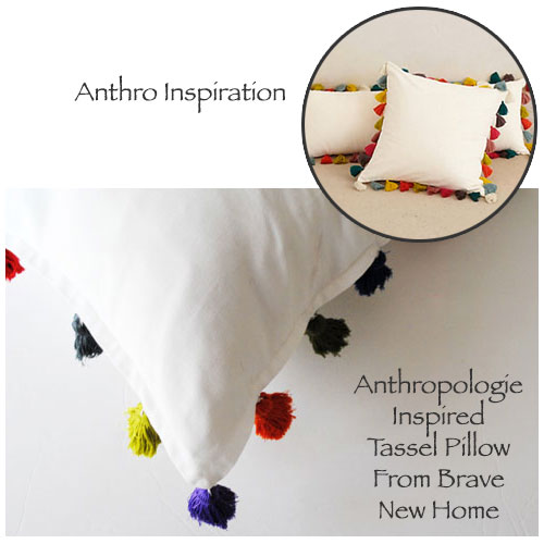 Anthropologie Inspired Tassel Pillow From Brave New Home