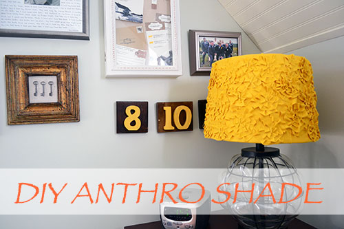 DIY Anthro Rosette Lamp Shade