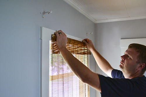 Hanging Bamboo Blinds From Window Trim