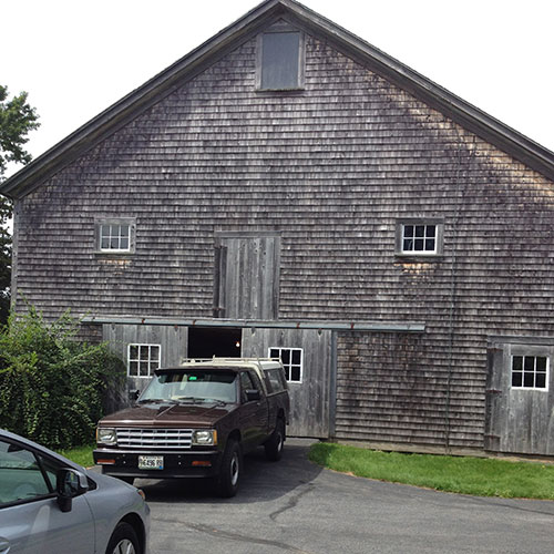 Old Farmhouse Barn In Maine