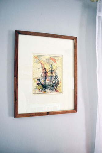 Ship Art In Wooden Frame