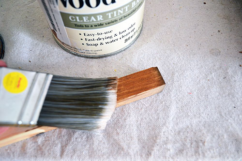 how to clean oil based stain off brushes