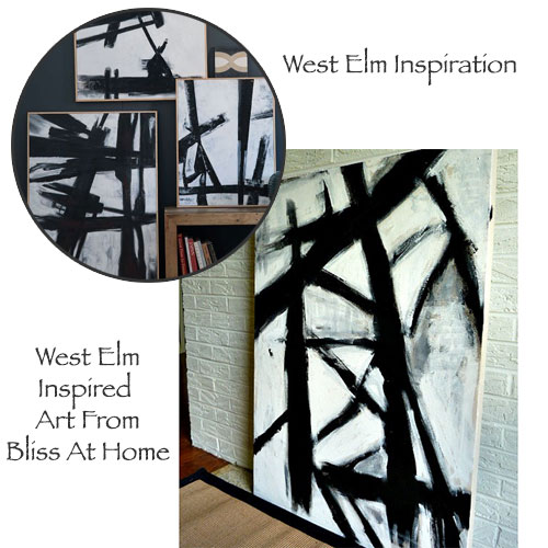 West Elm Inspired Art From Bliss At Home