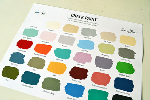 Annie Sloan Chalk Paint Color Chart