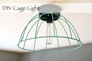 $11 DIY Cage Light Fixture
