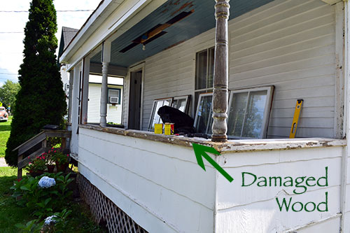 Damaged Porch Wood