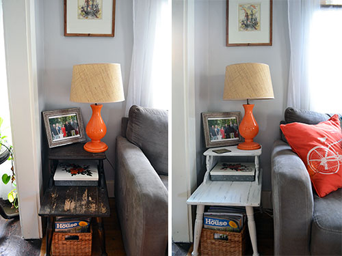 Living Room End Table Before And After