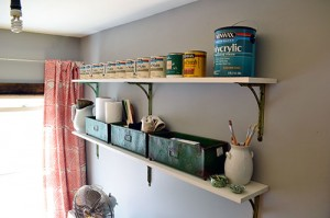 Installing Work Space Shelves