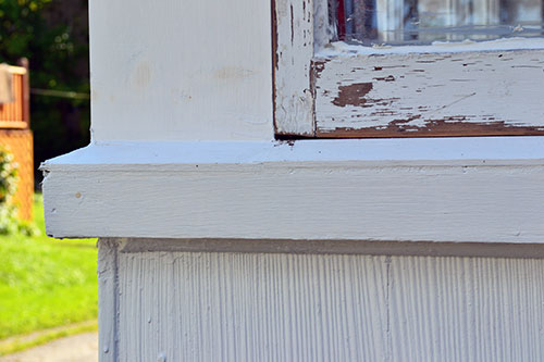 Painted Porch Window Sill