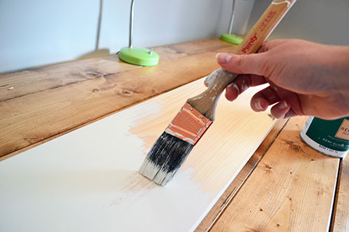 Painting Shelf White