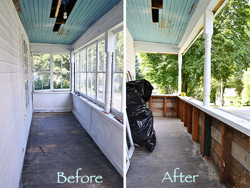 Porch Makeover Demo