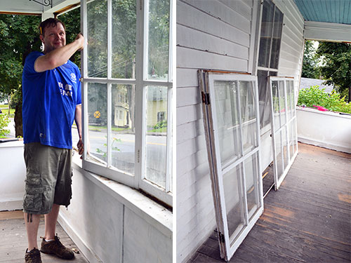 Porch Window Removal In Progress