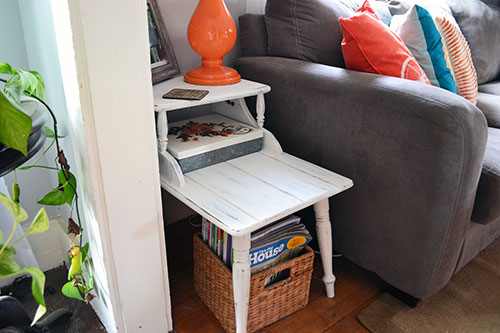 Painting A Side Table In Annie Sloan Pure White Chalk Paint