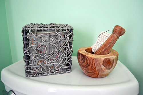 Mortar And Pestle Hanging Out In The Bathroom