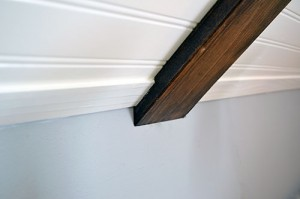 Installed Bead Board Trim Pieces In Craft Space.jpg