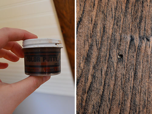 Use Colored Putty To Fill Holes In Stained Wood