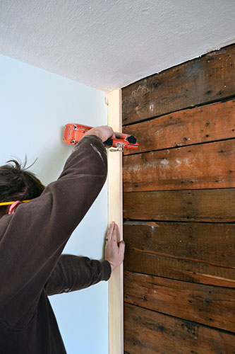 Adding Trim To Exposed Wood Accent Wall Angie S Roost