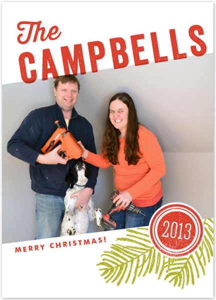 Campbell Family Christmas Card Alternative 1