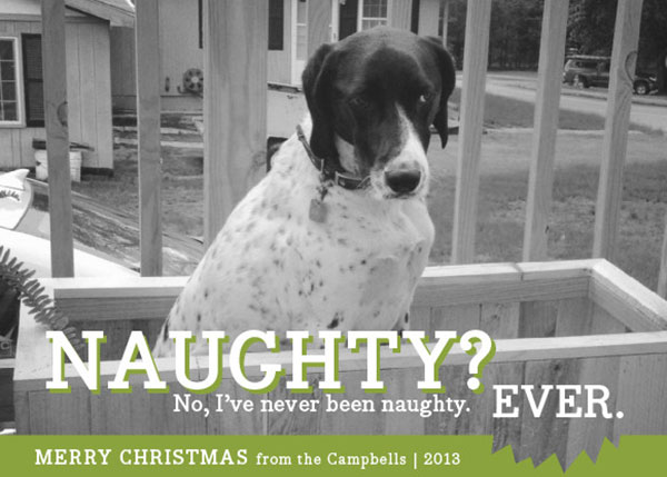Campbell Family Christmas Card Alternative 2