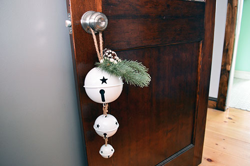 Christmas Bells Hanging From Bedroom Door Knobs 2013