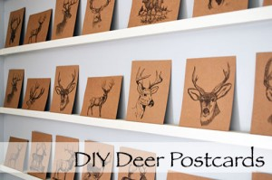 Kraft Paper Deer Postcards