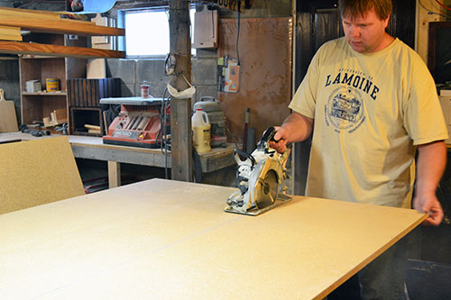 Cutting Pantry Particle Board