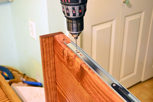 Drilling Pilot Holes Into Drawer Sides