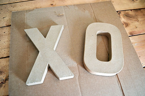 Cardboard Letters From The Craft Store