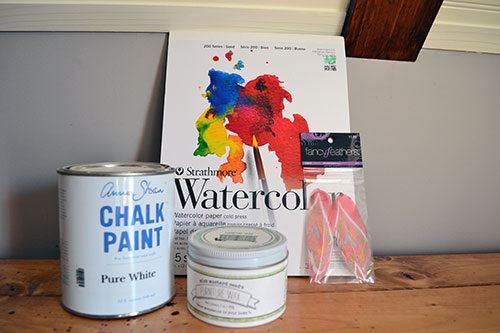 Feather Art Project Supplies