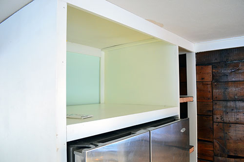 Painted Microwave Shelf