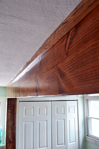 Stained And Finished Kitchen Beam