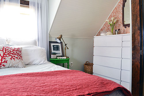 Master Bedroom Makeover With New Green Nightstands