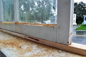 Built Up Porch Window Sill