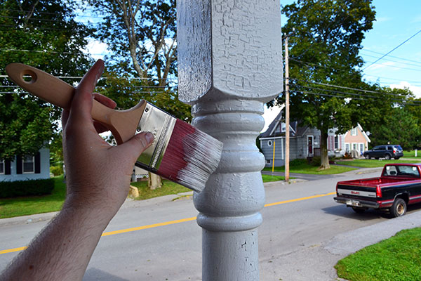 Painting Porch Columns