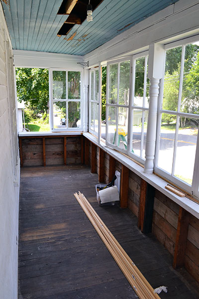 Porch Repair Progress