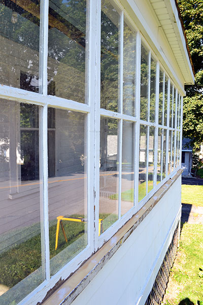 Porch Windows Repaired And Reinstalled