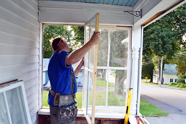 Repairing And Reinstalling Porch Windows