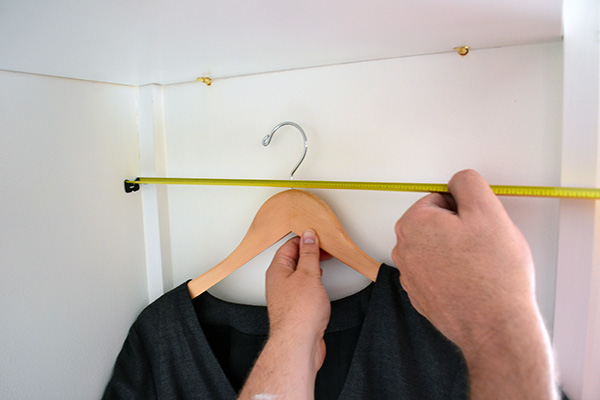 Testing Out Closet Rod Positioning