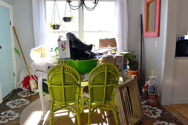 Dining Room Mess From Laundry Room Demo