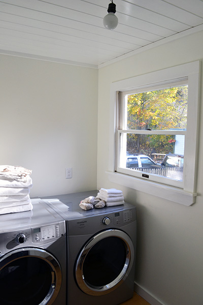 Planked Laundry Room Ceiling