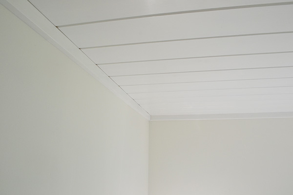Trim Covering Up Planking Gap By Walls