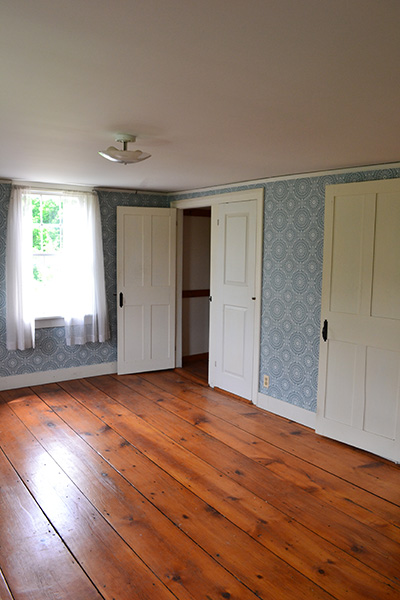 Vermont Country Home Before Blue Bedroom
