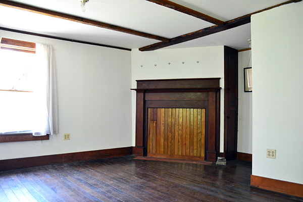 Vermont Country Home Before Living Room