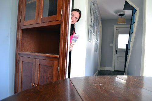 Caster Ization How To Turn A China Cabinet Into Closet Door Angie S Roost